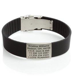 Emergency Id Bracelet Black