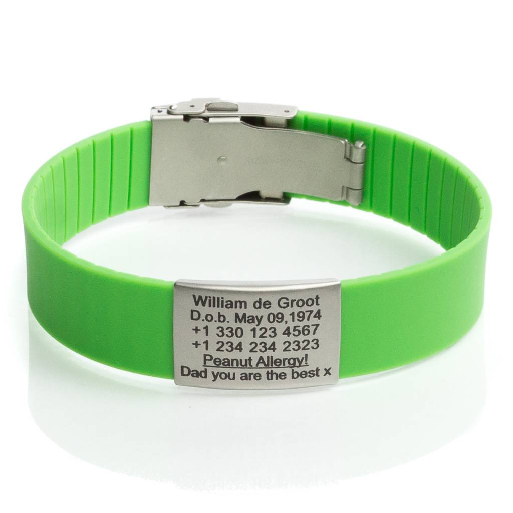 Safety Id Bracelet Green
