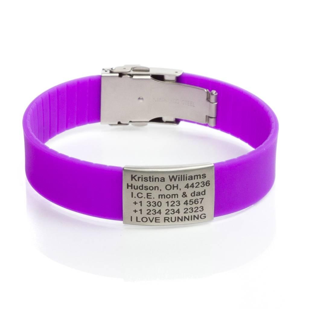 Sport Id Bracelet Purple