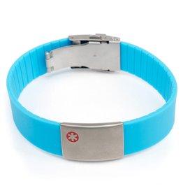 Icetags Allergy Id Bracelet Light Blue