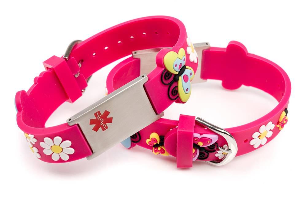 Allergy Id Bracelet Kids Fuchsia
