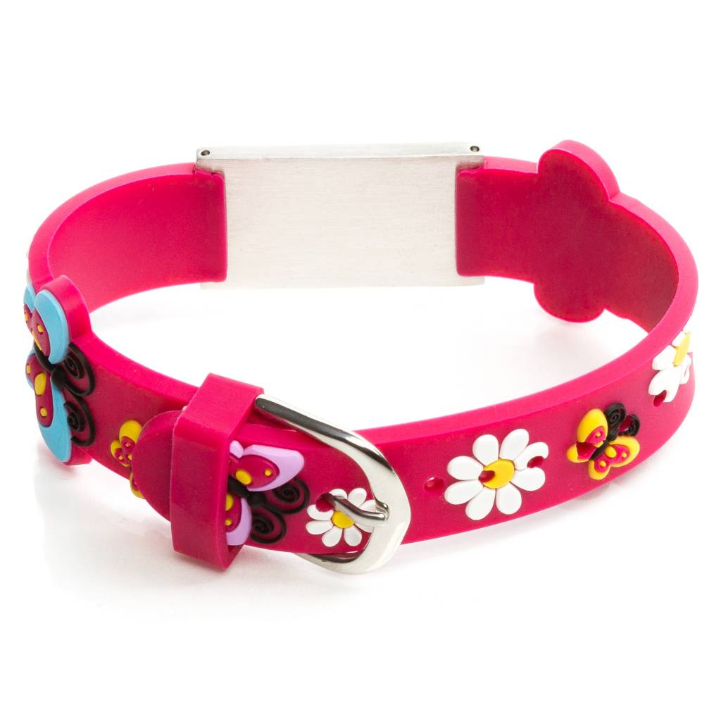 Allergy Id Bracelet Kids Fuchsia