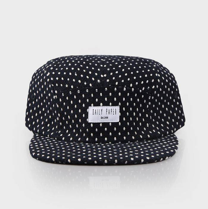 Navy Polka Five Panel Cap FW23