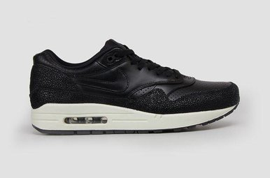 Air Max 1 Black Leather Black Sea Glass