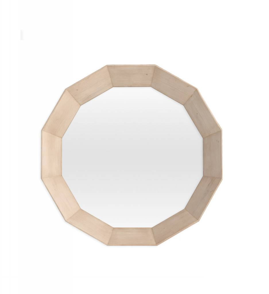 "Redford House Mirror ""Edwin"" Mirror Large 29Wx29H Cashew"