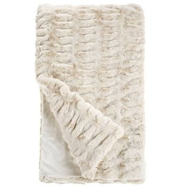 Donna Saylers Fabulous Furs Faux Fur Couture Throw 60x60 Ivory