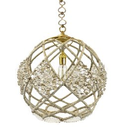"Ro Sham Beaux Adelaide 16"" Pendant with mirrored and clear crystal beads"