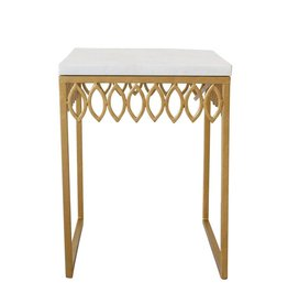 Ro Sham Beaux Leafy Side Table with Marble Top