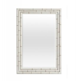 Redford House Hemingway Mirror - Raw Cotton Finish - Bamboo