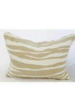 Legacy Linens 14x20 Pillow-Piped-Mona Zebra (Down) Flaxseed