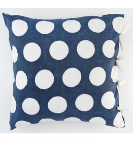 "Les Indiennes ""Dot"" Reverse Euro Pillow Cover Indigo 26x26"