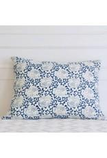 """Les Indiennes Les Indiennes """"Cranes"""" standard pillow - indigo 20x26"""