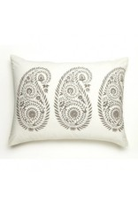 "Les Indiennes Les Indiennes ""Yvette"" Standard Pillow French Gray"