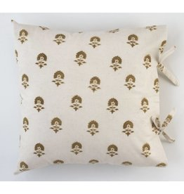 "Les Indiennes Les Indiennes ""Elise"" Deco Pillow Cover Chocolate 22x22"