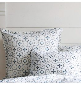 "Les Indiennes Les Indiennes ""Irma"" Euro Pillow Cover 26x26 with Indigo Flange"