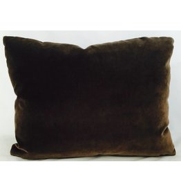 "Ashley Meier Fine Linens Godiva Velvet 14"" x 18"" pillow"