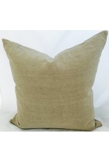 "Ashley Meier Fine Linens AM 22"" x 22"" 100% Linen Pillow - Neutrals"
