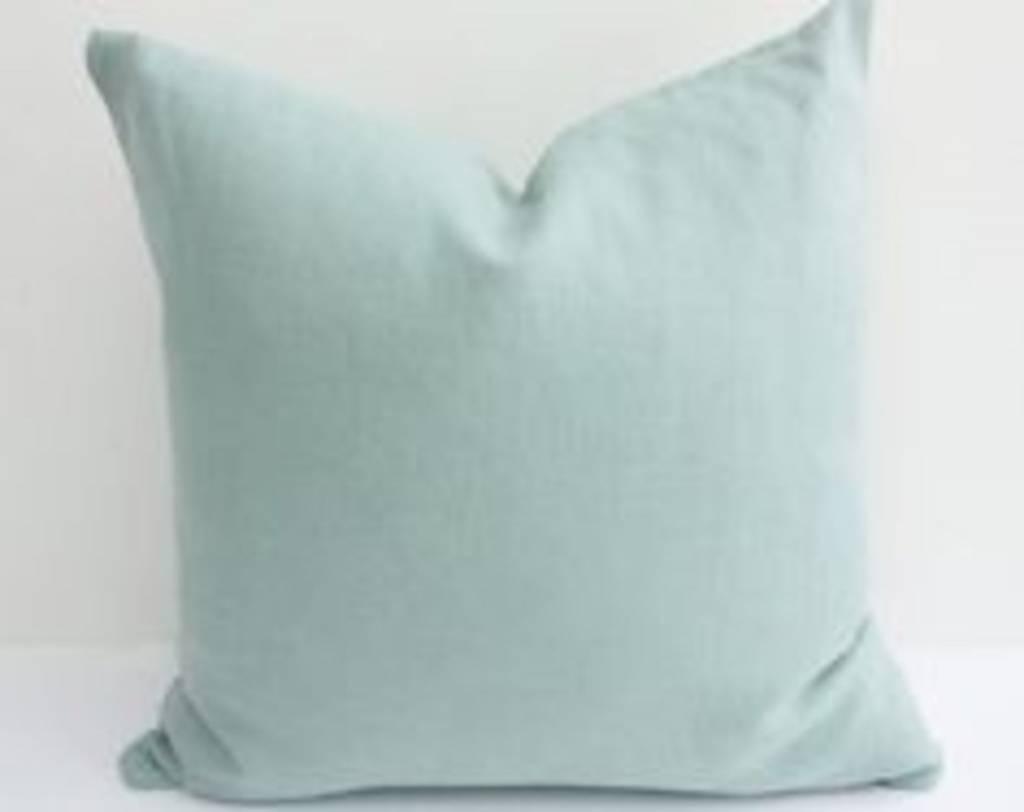 """Ashley Meier Fine Linens AM 22"""" x 22"""" 100% Linen Pillow - Spring Colors"""