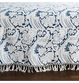 "Les Indiennes Les Indiennes ""Lisette"" Bed Throw Indigo, Full/Queen"