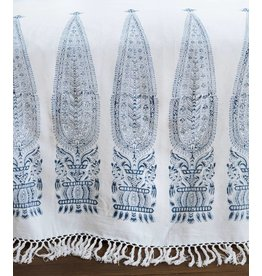 "Les Indiennes Les Indiennes ""Royale"" Bed Throw Indigo Full/Queen"