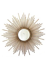 Two's Company Sunburst Antique Gold Wall Mirror