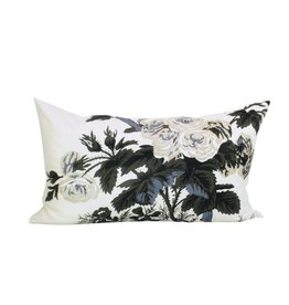 "Ashley Meier Fine Linens Schumacher Pyne - Charcoal - 14"" x 24"" pillow"