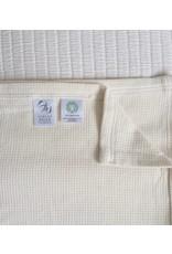 Ashley Meier Fine Linens Organic Cotton Modern Square Weave Blanket
