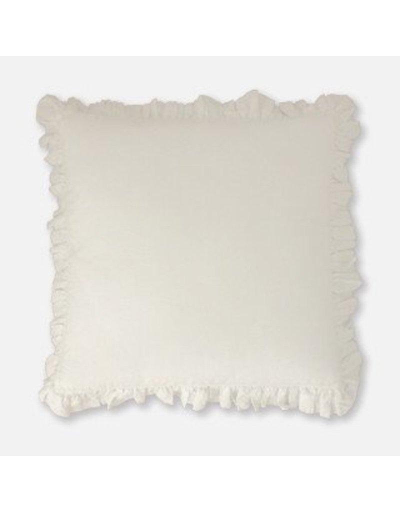 """Tourmaline Savannah Sham in White -  24"""" x 24"""" - with insert"""