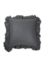 "Tourmaline Savannah  Sham in Charcoal,  24"" x 24"", with insert"