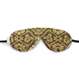 Elizabeth W EW Sleep Mask Black & Gold