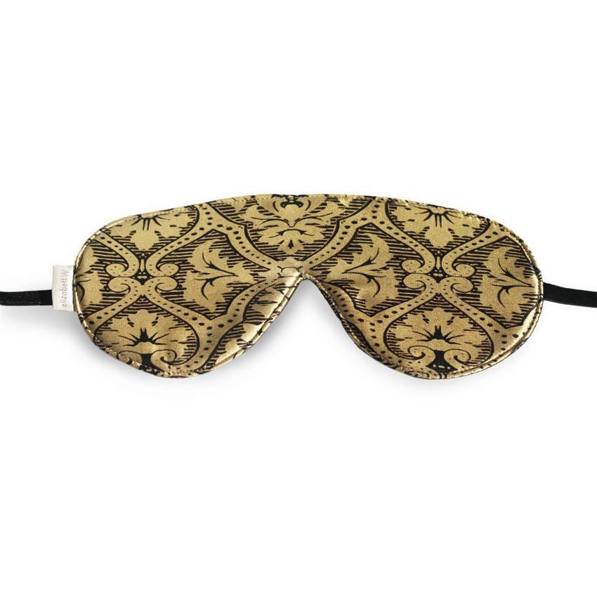 Elizabeth W EW Sleep Mask Black & Gold