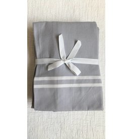 Scents and Feel Shower Curtain, Grey/White Stripes