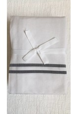 Scents and Feel Shower Curtain with white/black stripes