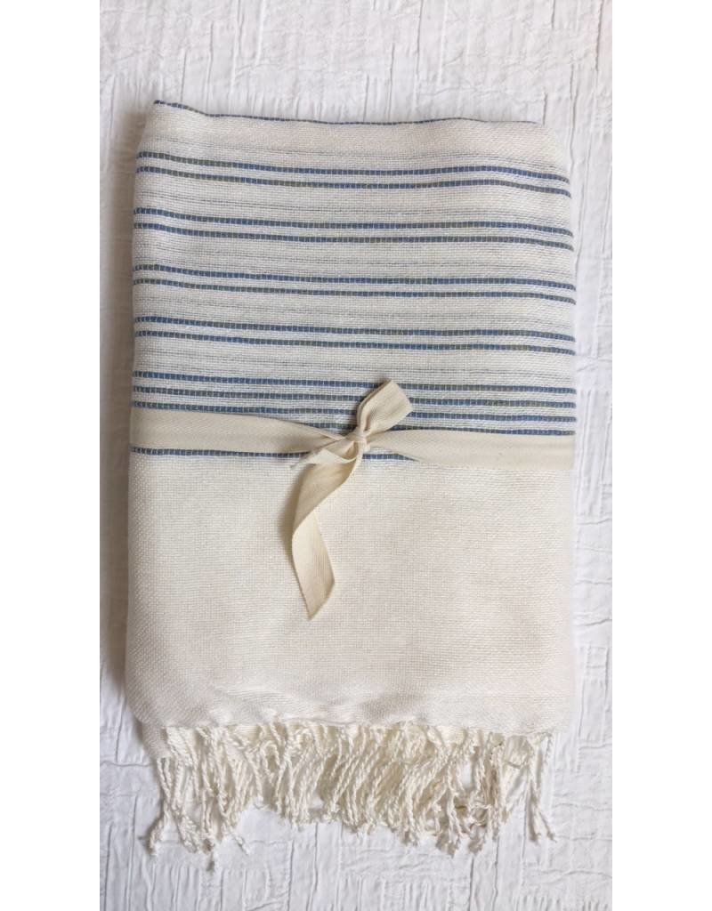 """Scents and Feel Throw Nautical White/Blue 60"""" x 80"""""""