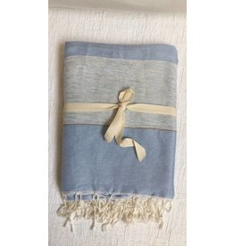 "Scents and Feel Throw Bicolor China Blue, 80"" x 60"""