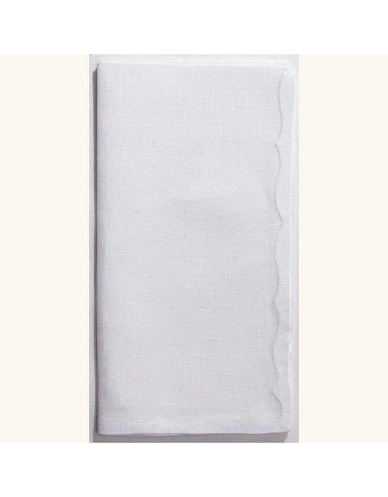 Frances Estate Linen White Napkin
