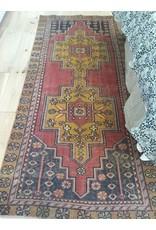 Oushak Rug 3.9 x 9.2 - Vintage #9917