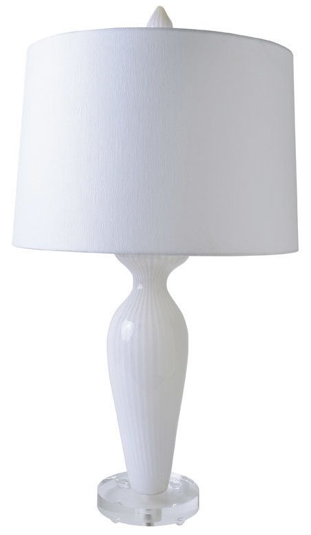 Gilded Nola Blanche Table Lamp