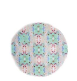 Laura Park April Days Teal Melamine Plate