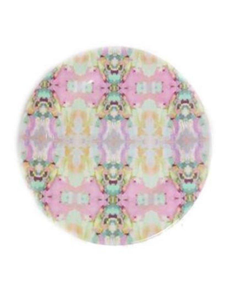 "Laura Park ""Lemonade Stand Pink"" Melamine Plate"