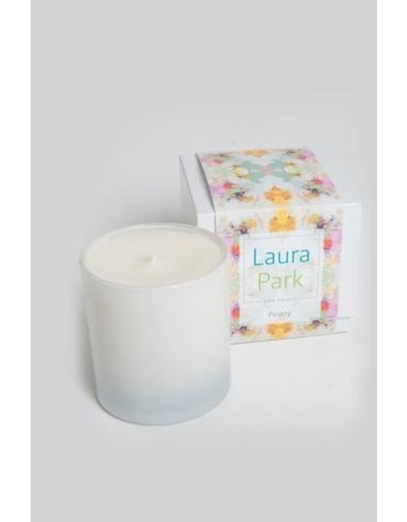 """Laura Park Peony Candle """"Celebration Teal"""""""
