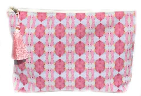 """Laura Park Small """"Cinco de Mayo Pink"""" Pouch"""
