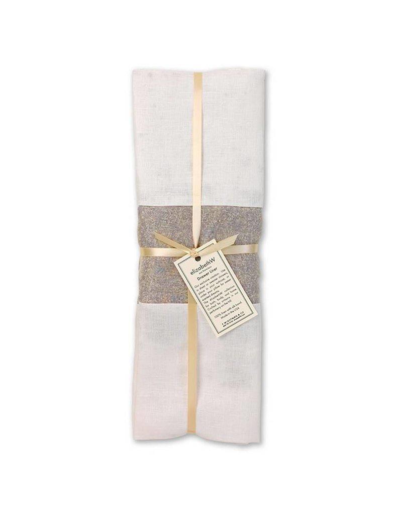 Elizabeth W EW Drawer Liner Lavender in Ivory