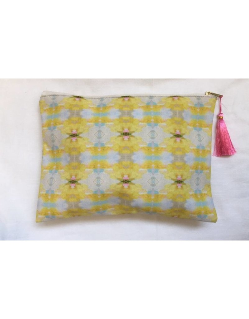"""Laura Park Large """"Sun Kissed Pink"""" Pouch"""