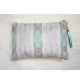"Laura Park Small T-bottom ""Brooks Avenue Sky"" Pouch"