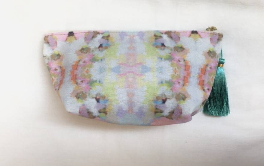 "Laura Park Small T-bottom ""Brooks Avenue Pink"" Pouch"