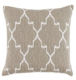 "Monaco Linen with Eyelash trim 20"" pillow"