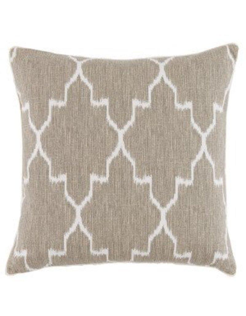 "Monaco Linen with Eyelash trim 20"" pillow"