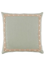 Seafoam Linen with Camden Tape Pillow 24""