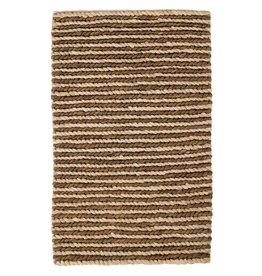 Dash & Albert Jute Woven Two-Tone Natural/Charcoal Rug 3x5